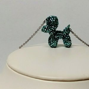Crystal Balloon Dog animal necklace